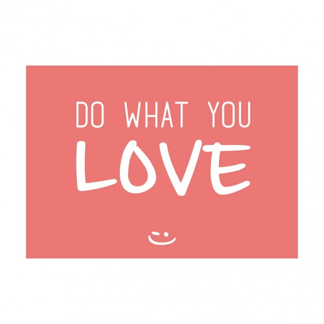 Carte postale pensée positive - Do what you love