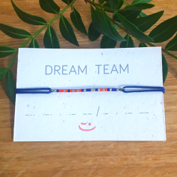 "Bracelet ""DREAM TEAM"" écrit en code morse"