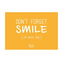 Carte postale pensée positive - Don't Forget Smile