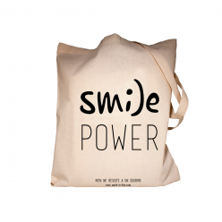 Tote Bag original en coton Smile power