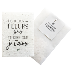 "Carte à planter ""Je t'aime"" - Growing Paper"