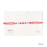 Bracelet message en code morse rose